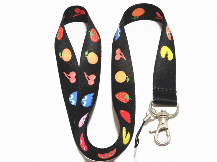 >> Click to Buy << Black Fruit Badge Lanyard For Keys ID Holders cartoon Mobile Phone Neck Straps #Affiliate