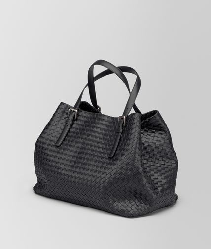 6b01f09c4634 BOTTEGA VENETA NERO INTRECCIATO NAPPA LARGE CESTA BAG Tote Bag Woman rp