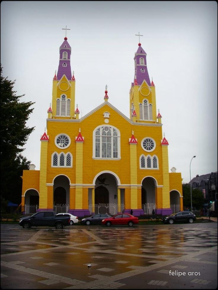 Iglesia de Castro, Chiloe. South of Chile