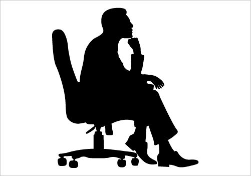 Man Sitting on a Chair Silhouette Graphics | MAN ...