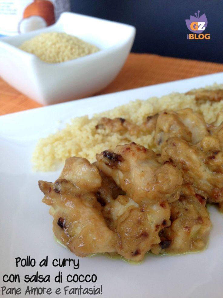 Pollo al curry con salsa di cocco | Pane Amore e Fantasia!