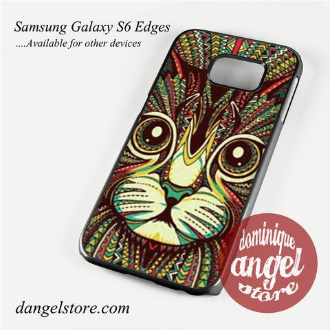 cat aztec Phone Case for Samsung Galaxy S3/S4/S5/S6/S6 Edge Only $10.99