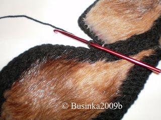 Businka2009b: Соединение кусочков меха с вязанием