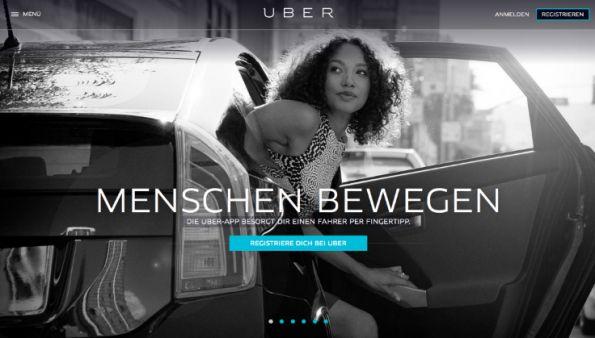 Uber sieht sich mit europaweiten Protesten gegen das eigene Geschäftsmodell konfrontiert – und weiß das als gute PR zu nutzen. (Screenshot: t3n)