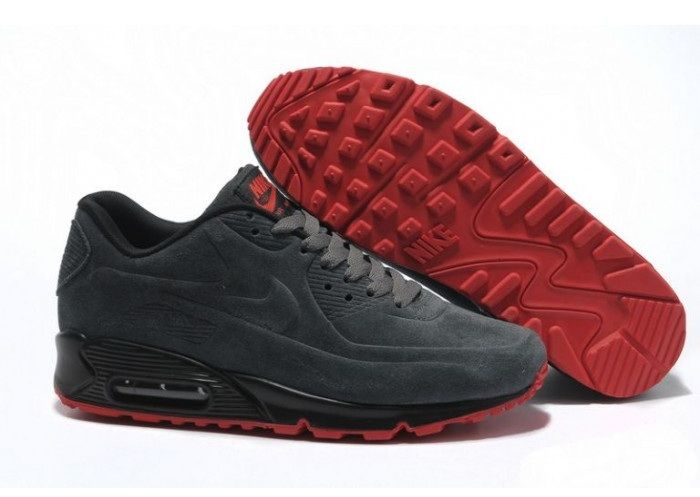 Nike Air Max 90 Vt Premium Anthracite Rouge Homme Pas Cher