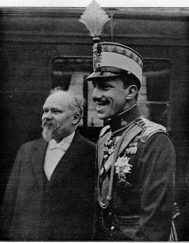 Alfonso XIII y el Presidente de Francia en el Bois de Boulogne