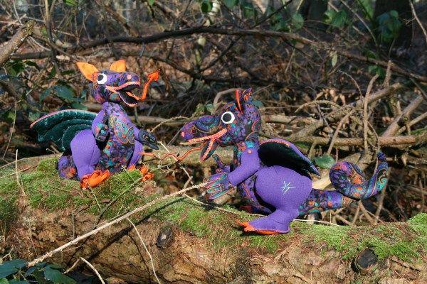 Dragons.  Made by Ytsje Tilma.