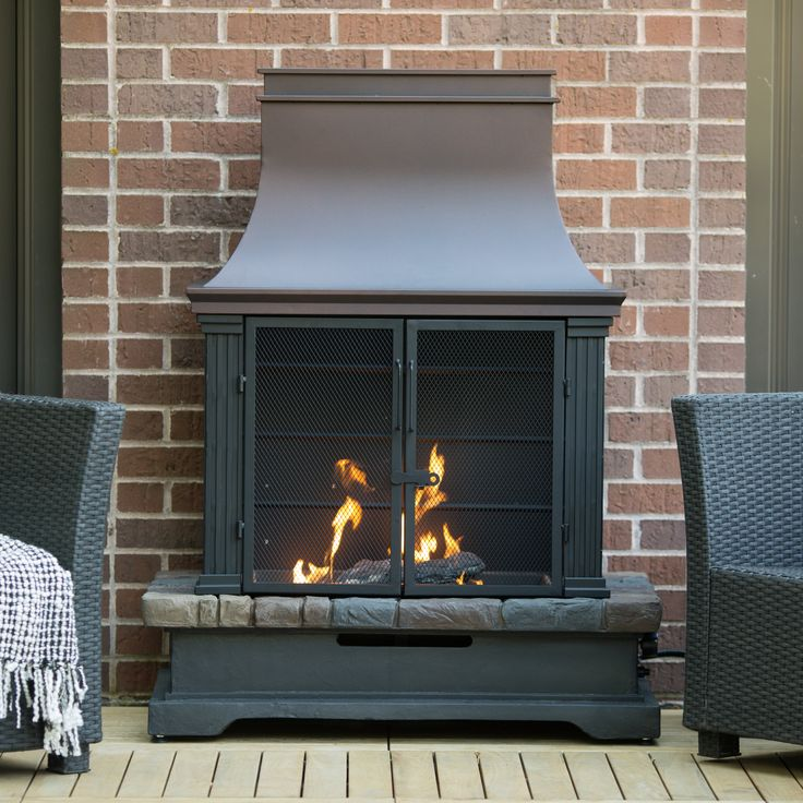Have to have it. Red Ember Fairfield Propane Fireplace - $499.98 @hayneedle.com
