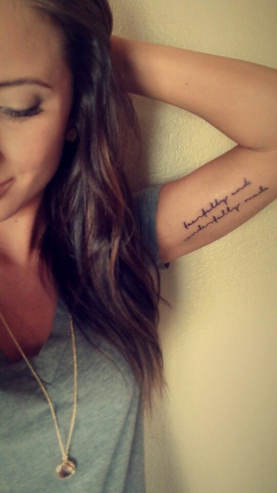 Tattoo. Inner arm. Bicep. Psalm 139:14. Fearfully and wonderfully made.