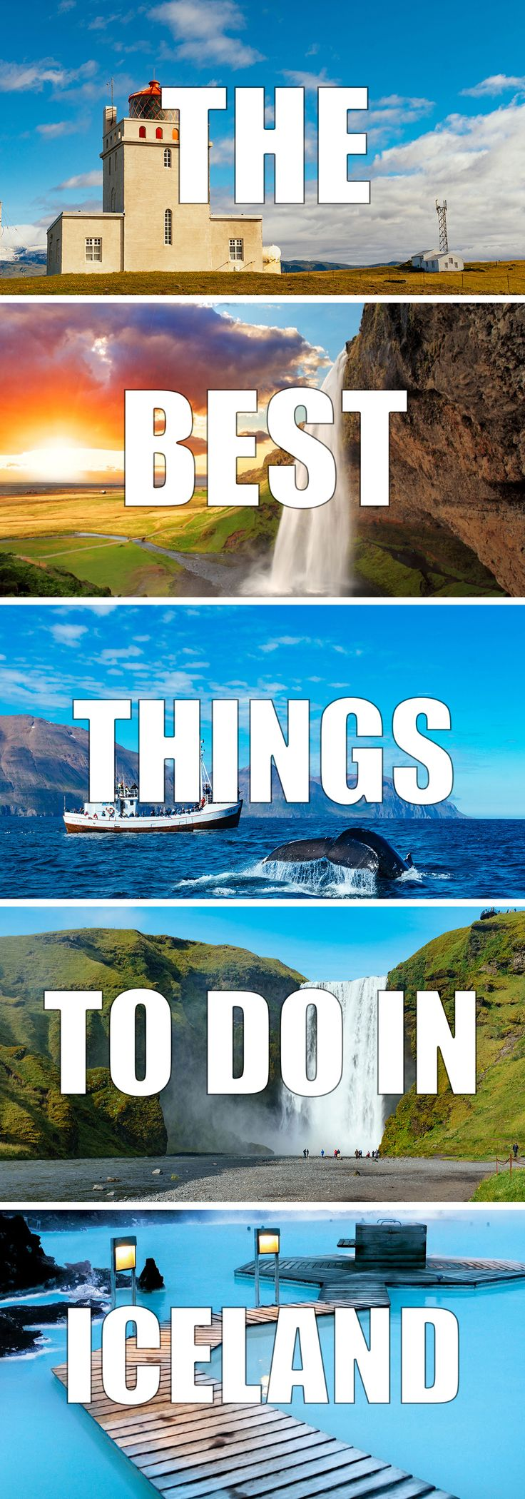 A list of the best things to do in Iceland. Learn all about the top tourist attractions and must-sees in Iceland. There are just so many beautiful and amazing natural highlights to see in Iceland. You certainly need to visit the blue lagoon, the waterfalls and see the Northern Lights. Click for more information on Iceland travel.