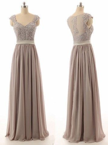 gray bridesmaid dress,long bridesmaid dress,lace top bridesmaid dress,2016 bridesmaid dress,BD846