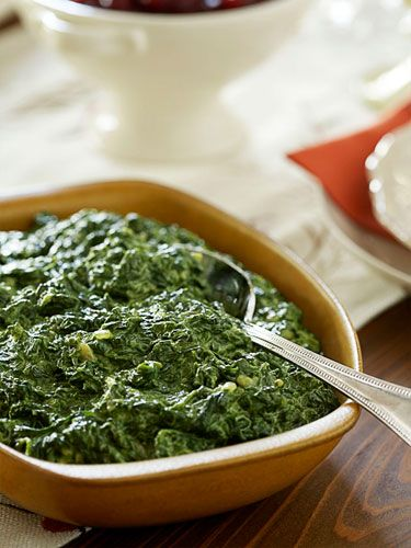 Delicious home cooking, New Orleans, Creamed Spinach, Southern style.