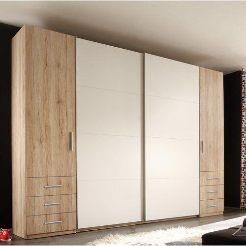 brayden studio petrosky 4 door sliding wardrobe schiebe