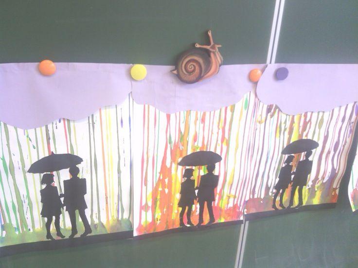 Silhouettes sous parapluie à la manière d'Allante | la maîtresse a des yeux dans le dos