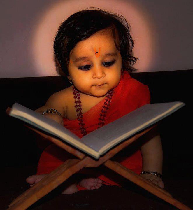 A little cute baby...  Om Namah Shivaya.....