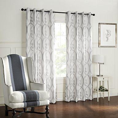 (Dois painéis) curva de estilo barroco circula quarto padrão escurecimento cortina – BRL R$ 157,46