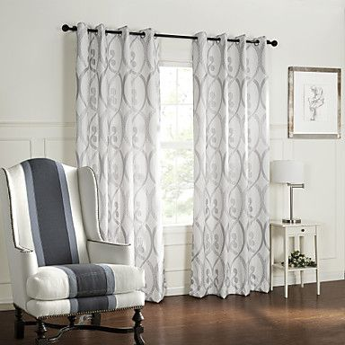 (Two+Panels)+Barroco+Style+Curve+Circles+Pattern+Room+Darkening+Curtain+–+USD+$+69.99