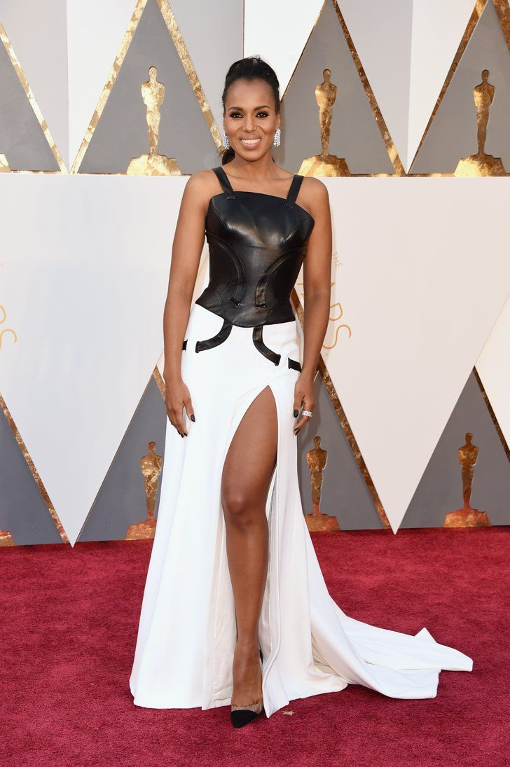 Pin for Later: Seht alle Stars auf dem roten Teppich der Oscars Kerry Washington in Atelier Versace