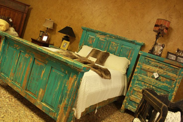 Charmant Custom Turquoise Bedroomu2026 Antiqued And Great Pop Of Color To Add To Your  Room! Turquoise BedroomsTin StarRoom ...