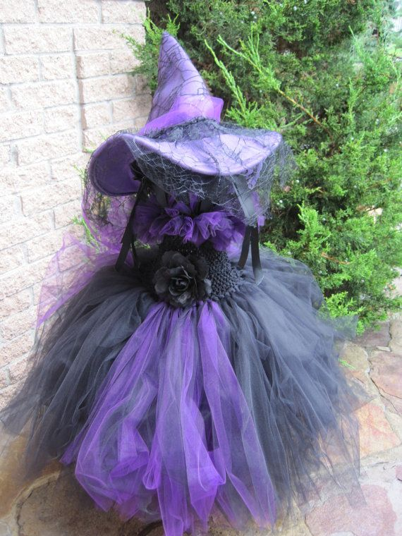 Tutu Dress HALLOWEEN WITCH COSTUME Wrinkled Scary by ElsaSieron, $74.00