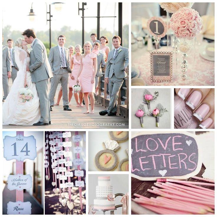 48 best Pink, Grey & Champagne Vintage Travel Wedding images on ...