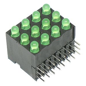 Electronic Goldmine - Dialight 564-0012-806 12 LED Green CBI
