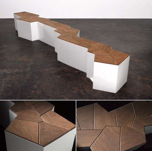 Another great bench design. This bench was designed by Cameron Van Dyke. Its form is very organic and contermporary. The unusual shape makes it very interesting piece of furniture.