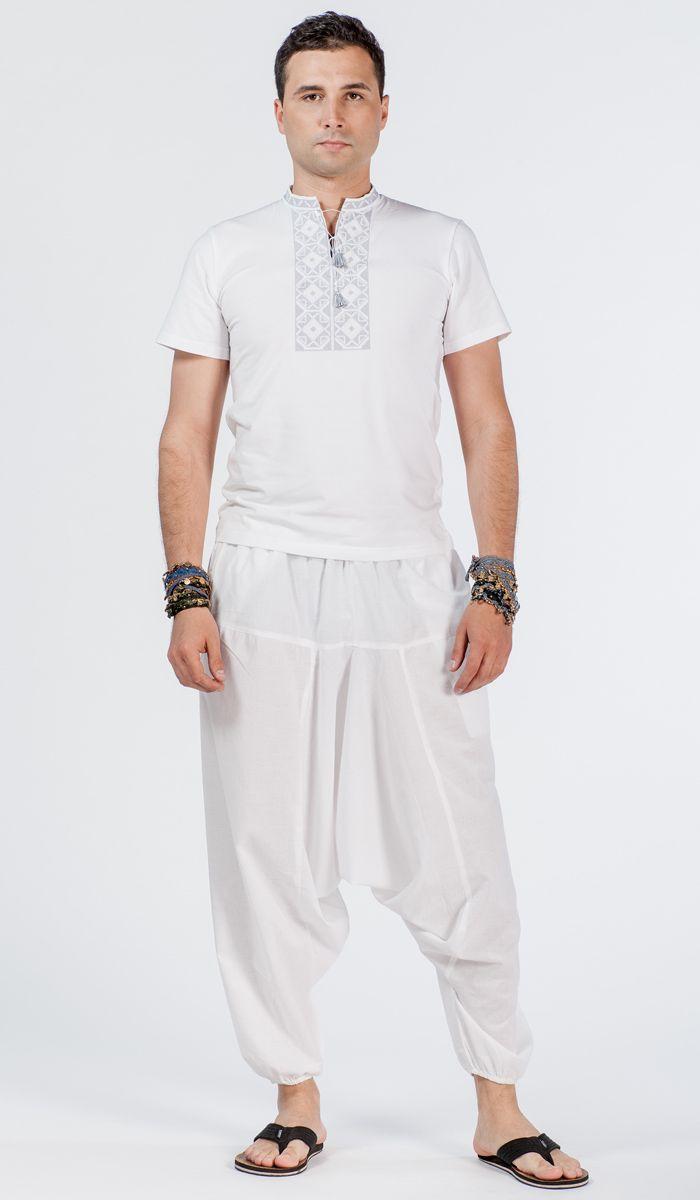 Белые мужские алладины, индийские шаровары, одежда для йоги. white yoga pants. 1170 рублей http://indiastyle.ru/products/muzhskie-alladiny-belogo-cveta-1344