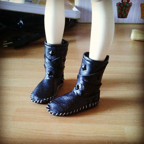 Indianini boots for  Minifee  stivali in ecopelle di Style4Bjd, €25.00