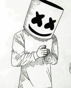 It is a photo of Dashing Marshmello Coloring Pages