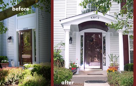 Front door portico designs curb appeal with an for Main door arch designs