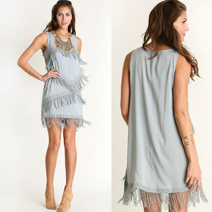 Sleeveless Fring #Dress from #82and1