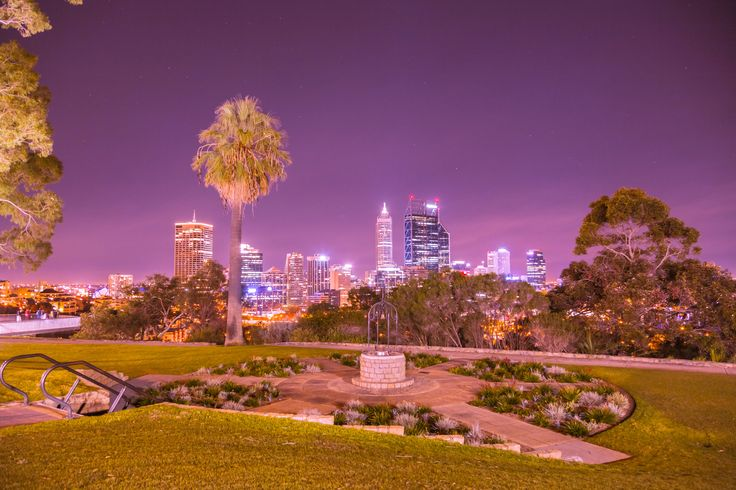 Photo Was taken from Kings Park Looking out at Perth at night