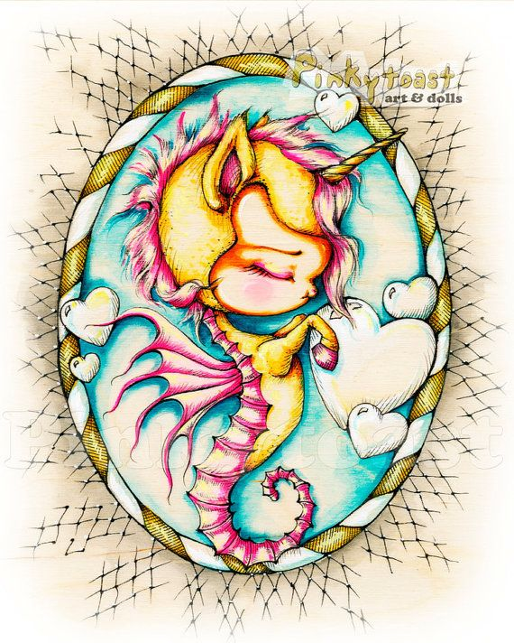 Baby SeahorseYellow Unicorn Love BubblesOcean Fairy by pinkytoast, $14.00 - Not a Mermaid but, ya know!