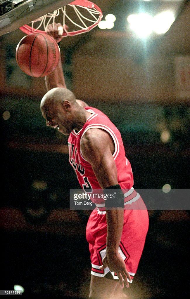 Fotografia de notícias : Chicago Bulls All-Star forward Michael Jordan...