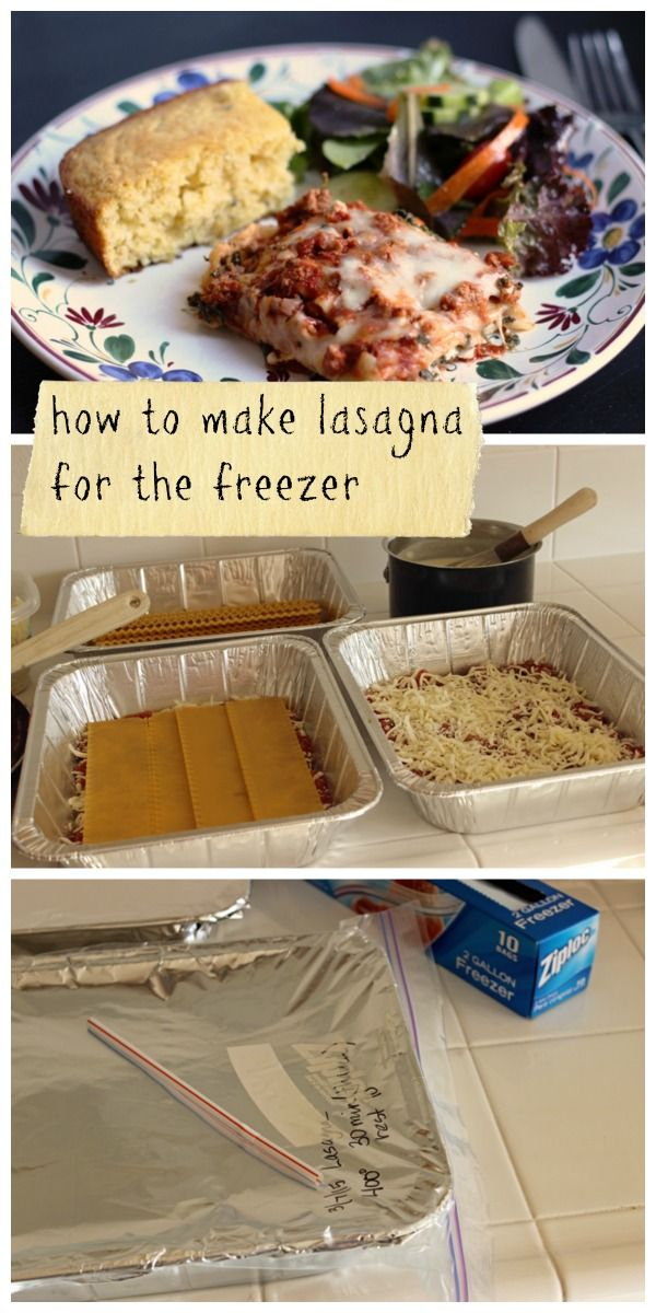 How to Make Lasagna for the Freezer - tips, tricks, and a photo tutorial.