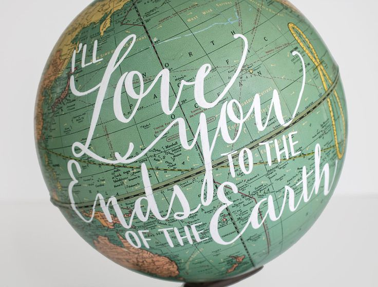 Globe Jotter These wonderful hand-painted globes... | Type Worship
