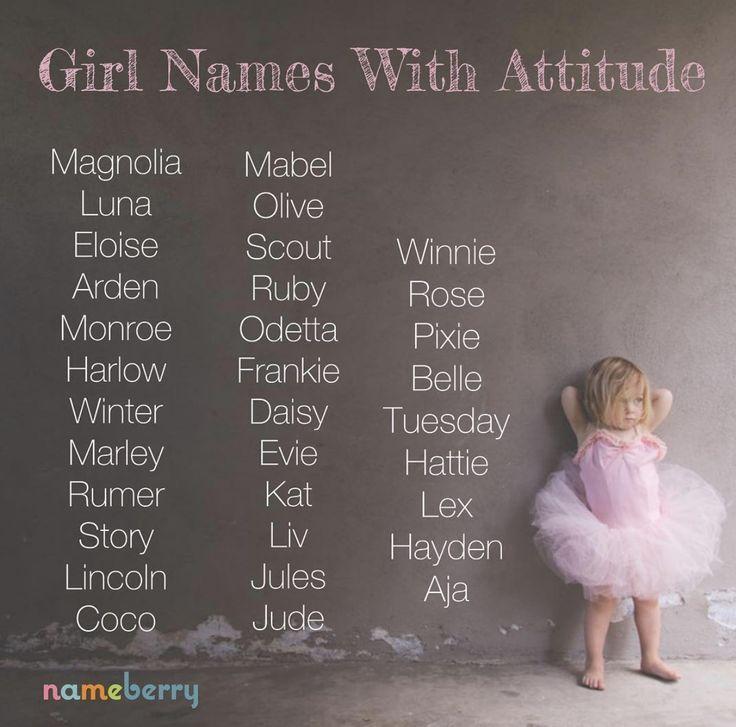 Girl Names with Attitude – #Attitude #girl #Names