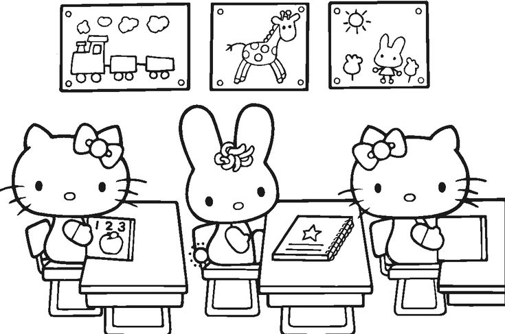 japanese hello kitty coloring pages - photo#33