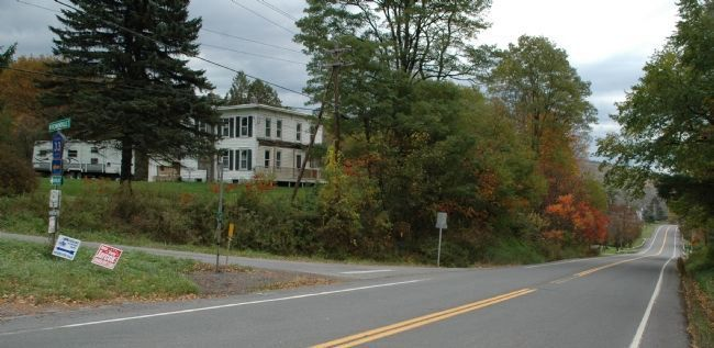 Corporal James Tanner Marker along Route 7. Click for full size.