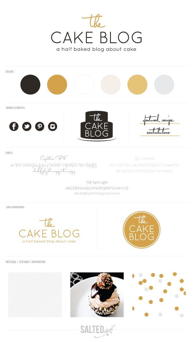 New Brand Launch: The Cake Blog   by Salted Ink   www.saltedink.com #branding #brand #logo