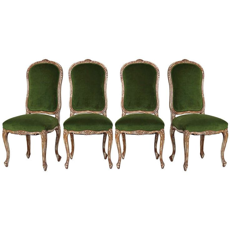 Late 1800s Four French Chairs | From a unique collection of antique and modern dining room chairs at http://www.1stdibs.com/furniture/seating/dining-room-chairs/