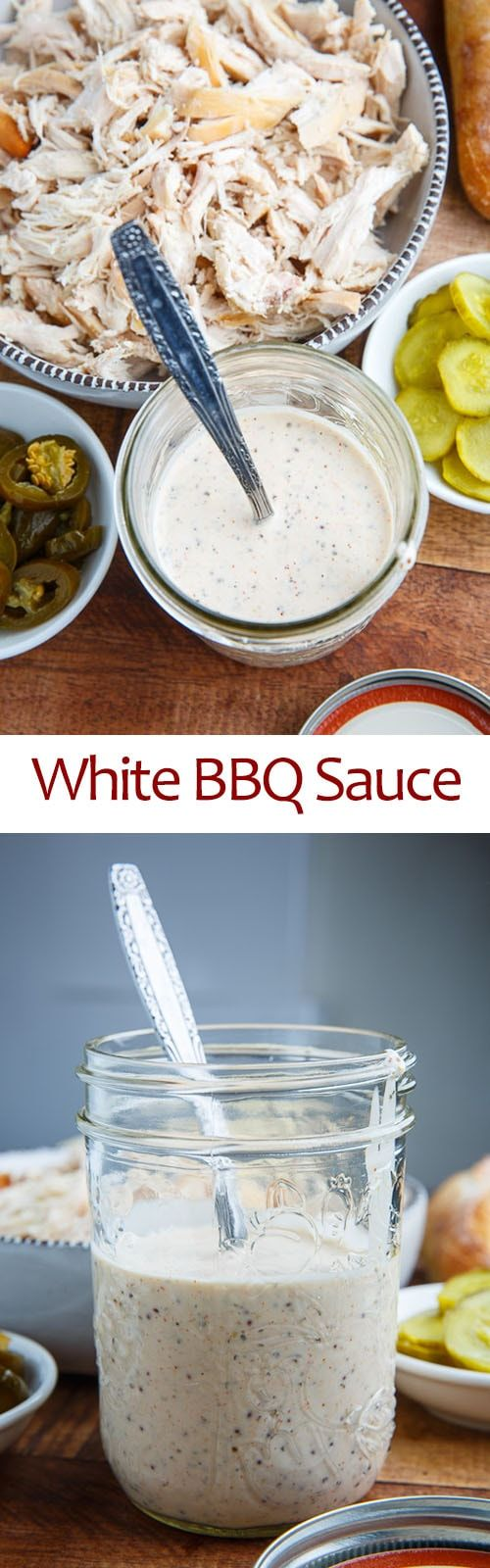White BBQ Sauce -- i had white bbq sauce on smoked chicken wings at a great bbq joint near Charleston, SC and that is where i fell in love with it.