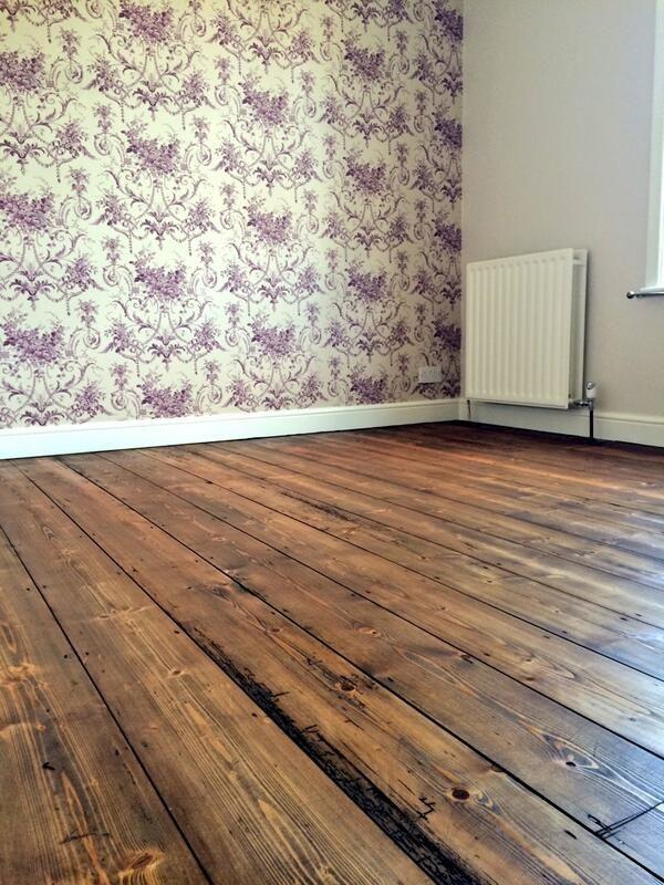 Wood Wax Finish 3168 Oak Antique onto Pine floorboards by Restore My Floor in Southampton.