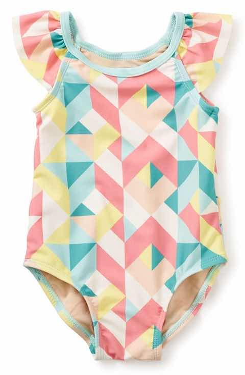 Tea Collection Lychee One-Piece Swimsuit (Baby Girls)