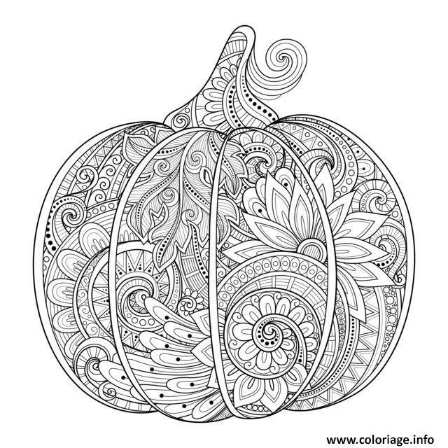 coloriage citrouille halloween zentangle source 123rf irinarivoruchko dessin imprimer