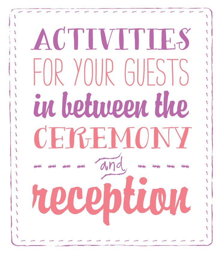 Best 25+ Wedding Reception Activities Ideas On Pinterest