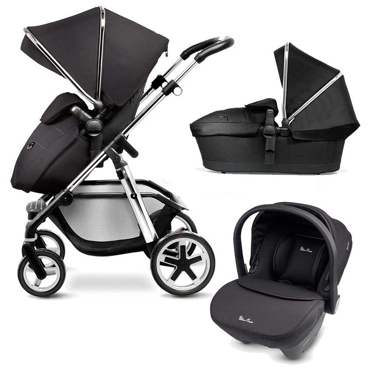 The Silver Cross Pioneer - Black is the Perfect 3-in-1 solution for modern life, with a Carrycot, reversible Seat Unit & Travel System compatibility.