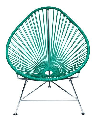 Innit Designs Acapulco Chair, Turquoise Weave on Chrome Frame