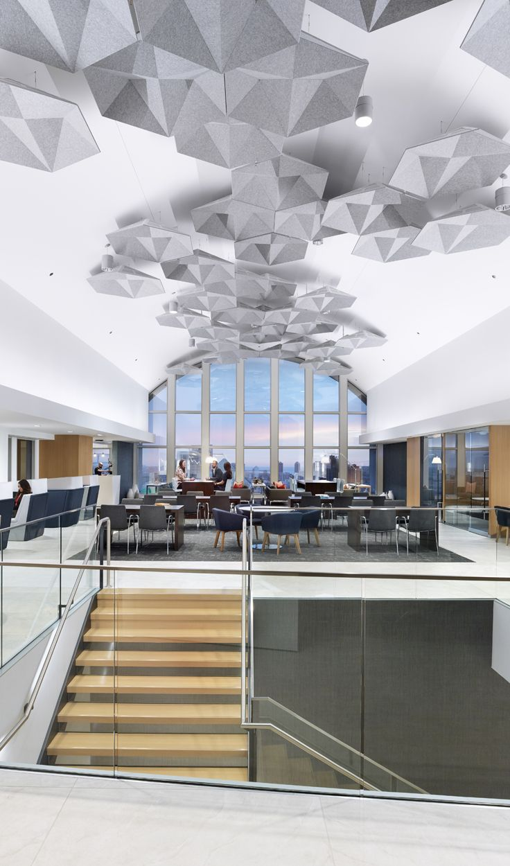 2017 Architectural Record Record Products Award Winner Soundstar Ceiling System S Hexagonally Shaped Cellu Architecture Architecture Design Structure Design